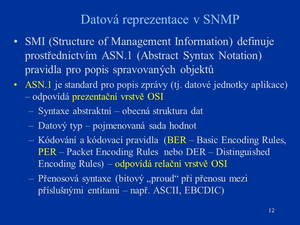 Datová reprezentace v SNMP