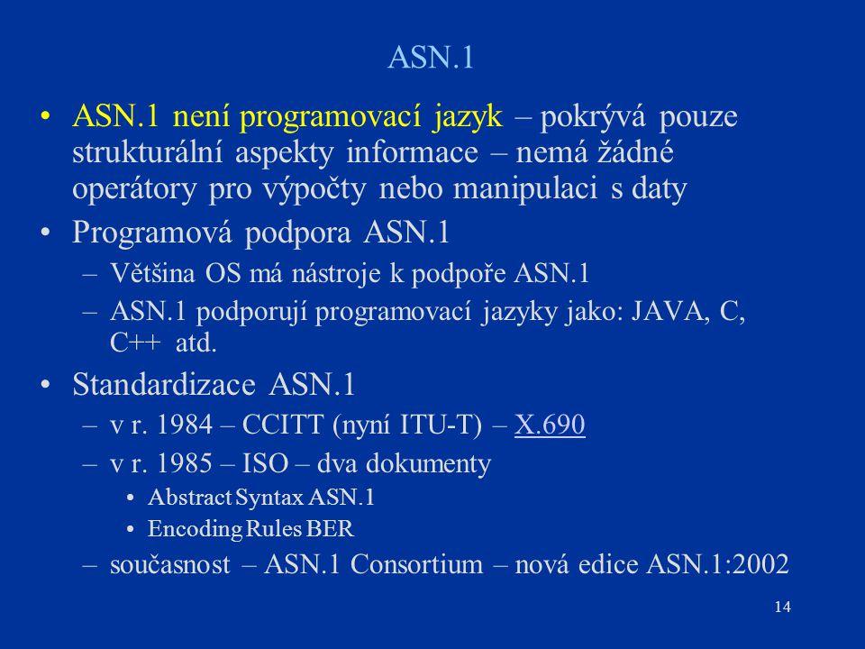 Programová podpora ASN.1