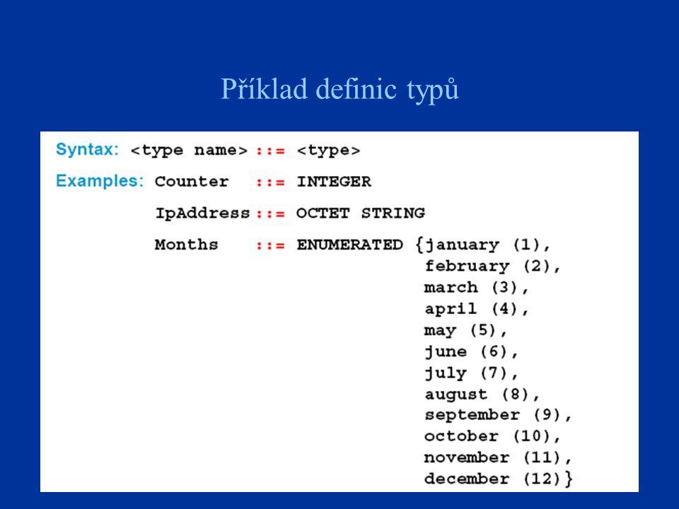 Příklad definic typů