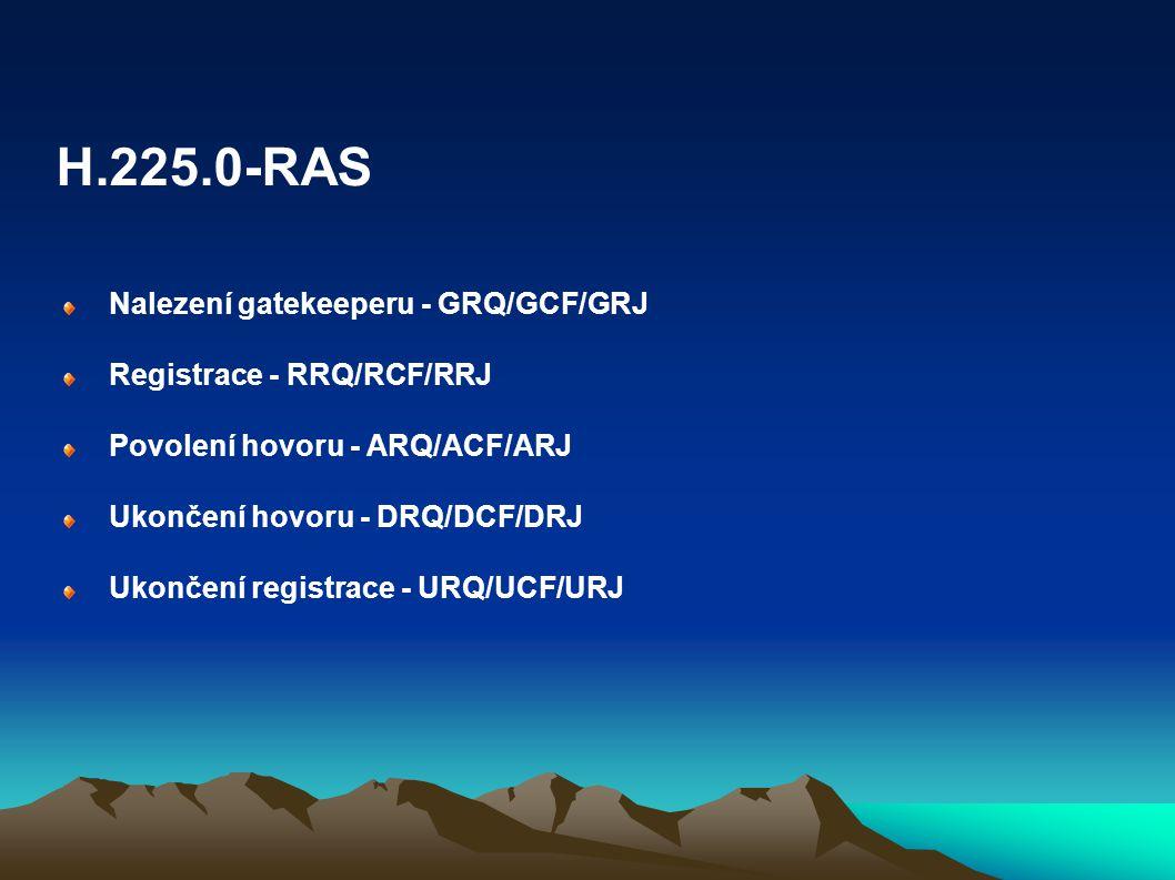 H.225.0-RAS Nalezení gatekeeperu - GRQ/GCF/GRJ