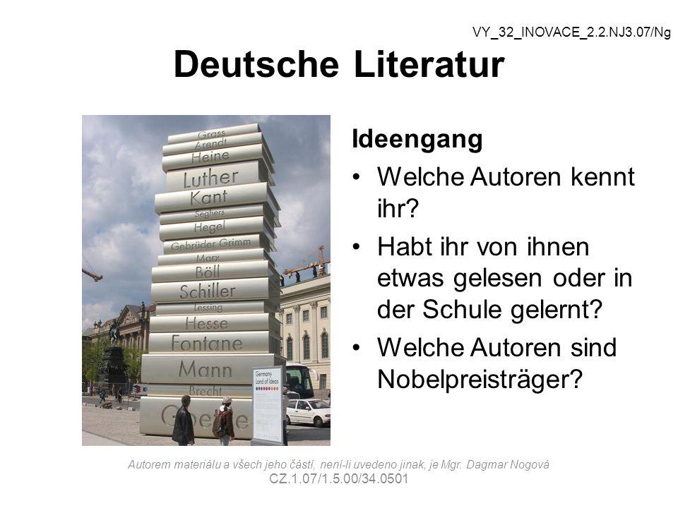 Deutsche Literatur Ideengang Welche Autoren kennt ihr