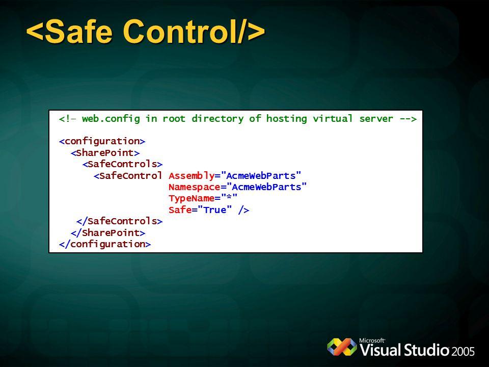 <Safe Control/>