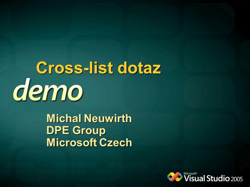 Cross-list dotaz Michal Neuwirth DPE Group Microsoft Czech