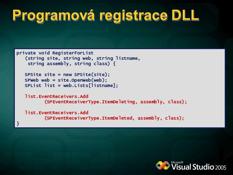 Programová registrace DLL