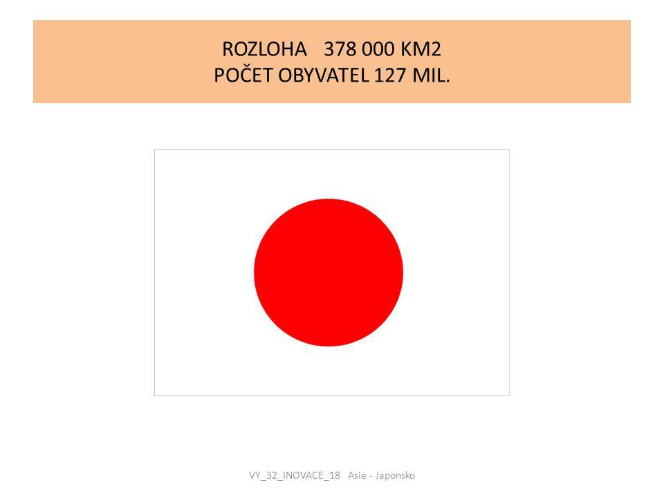 ROZLOHA 378 000 KM2 POČET OBYVATEL 127 MIL.
