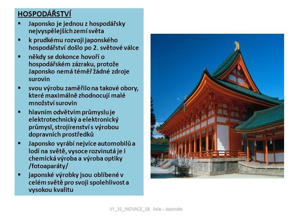 VY_32_INOVACE_18 Asie - Japonsko