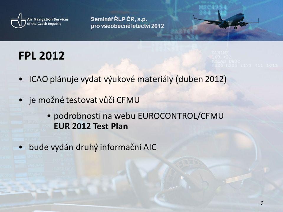 FPL 2012 ICAO plánuje vydat výukové materiály (duben 2012)