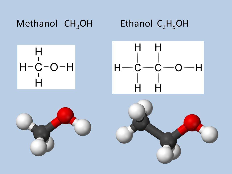 Methanol CH3OH Ethanol C2H5OH