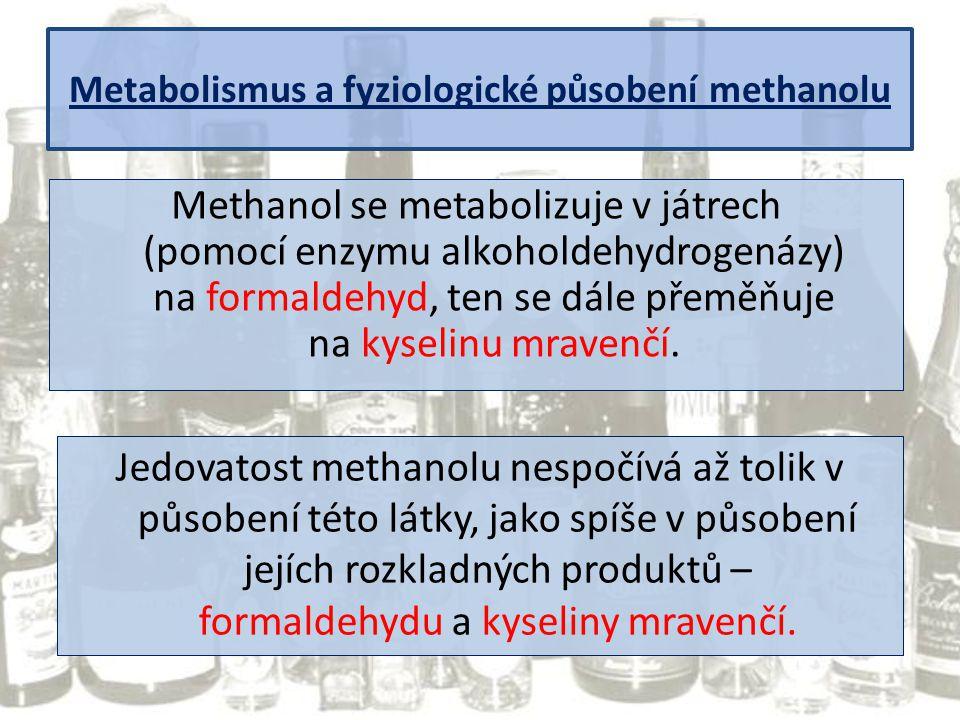 Metabolismus a fyziologické působení methanolu