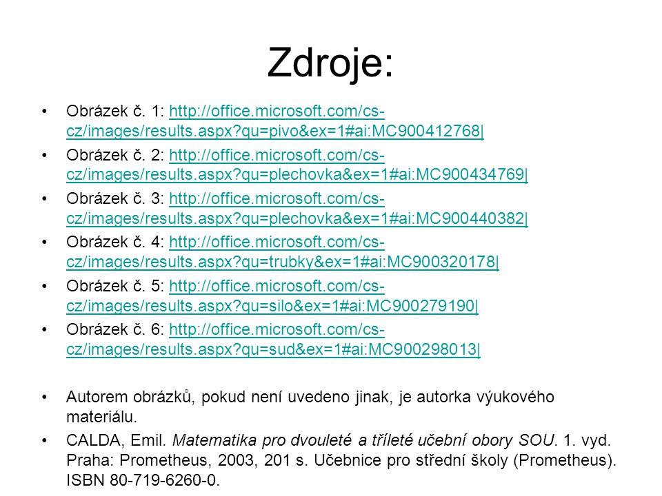 Zdroje: Obrázek č. 1: http://office.microsoft.com/cs-cz/images/results.aspx qu=pivo&ex=1#ai:MC900412768|