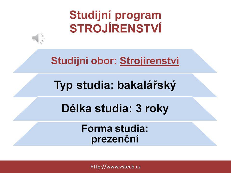 Studijní program STROJÍRENSTVÍ