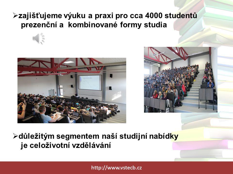 zajišťujeme výuku a praxi pro cca 4000 studentů