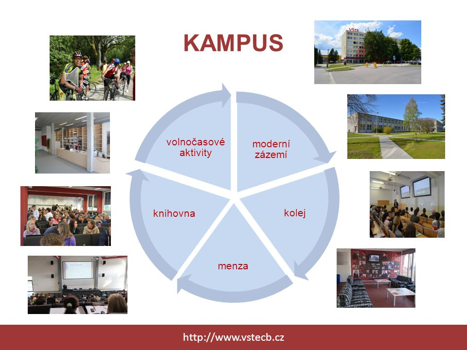 KAMPUS http://www.vstecb.cz volnočasové aktivity moderní zázemí