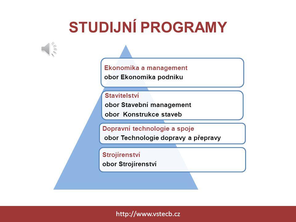 STUDIJNÍ PROGRAMY http://www.vstecb.cz Ekonomika a management