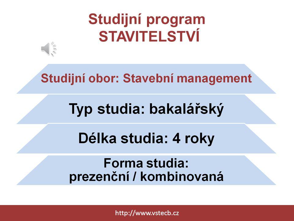 Studijní program STAVITELSTVÍ