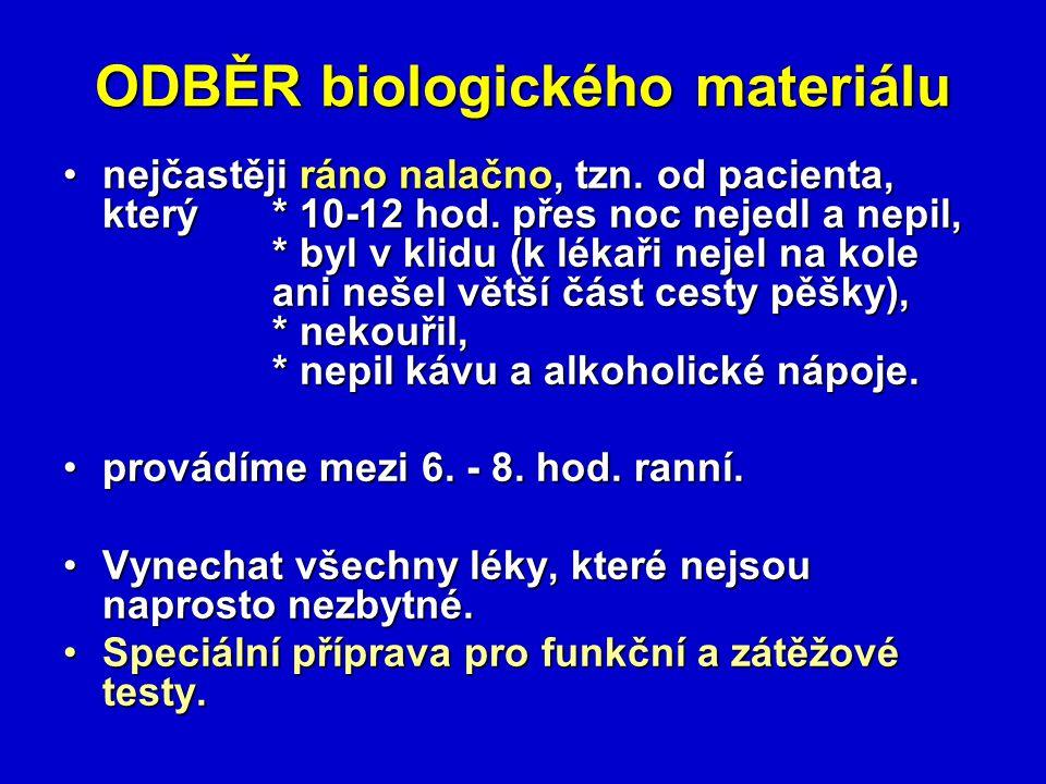 ODBĚR biologického materiálu