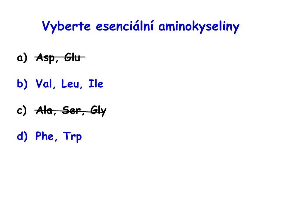 Vyberte esenciální aminokyseliny