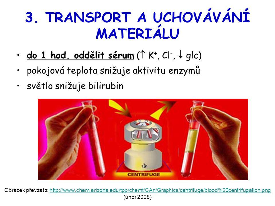 3. TRANSPORT A UCHOVÁVÁNÍ MATERIÁLU