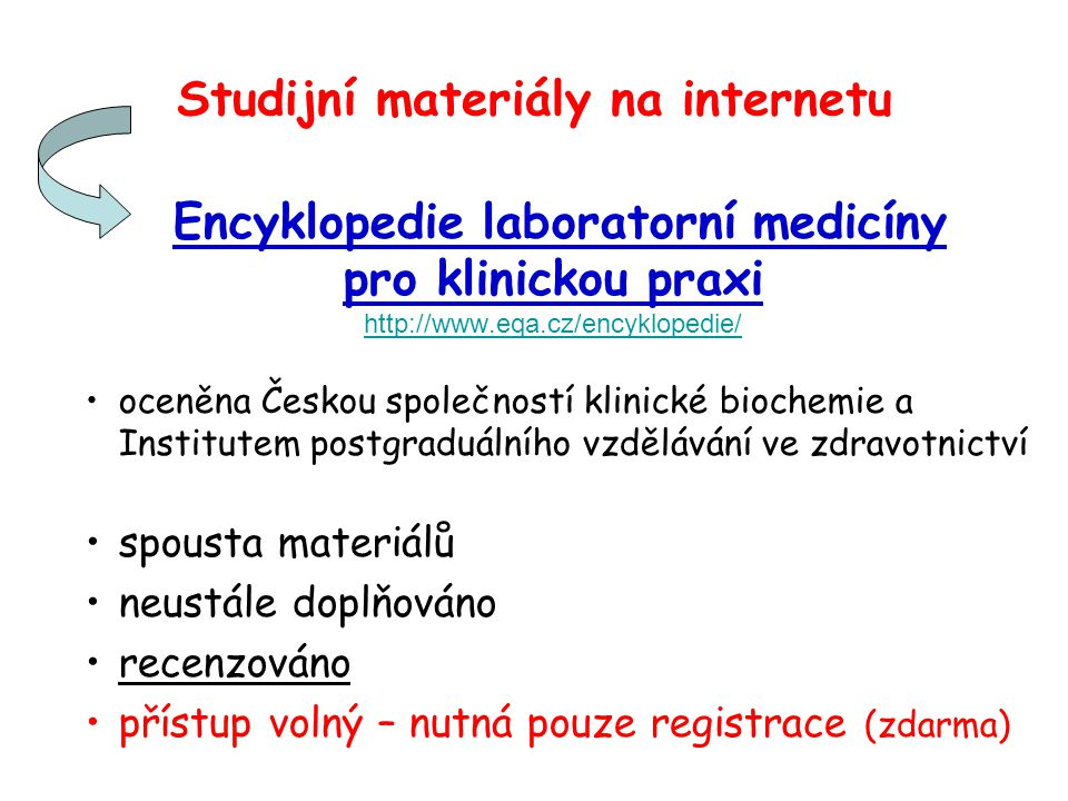 Studijní materiály na internetu
