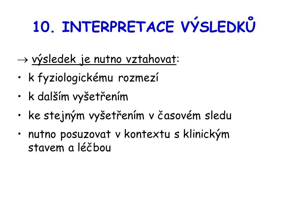 10. INTERPRETACE VÝSLEDKŮ