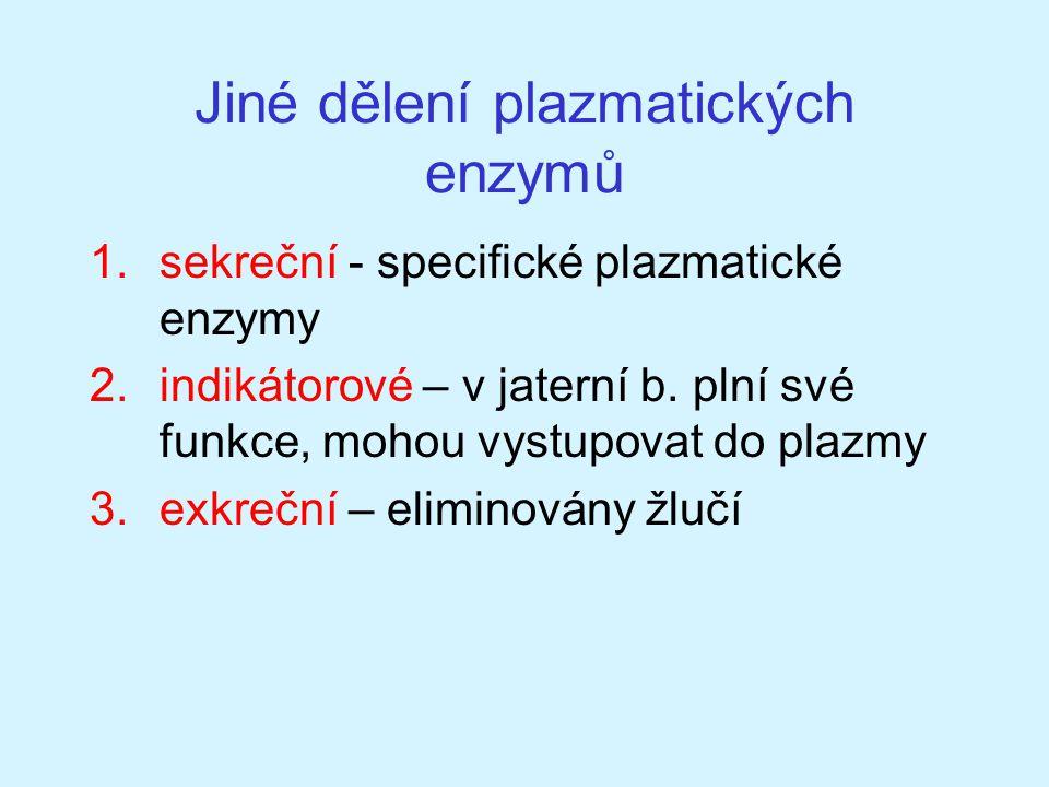 Jiné dělení plazmatických enzymů