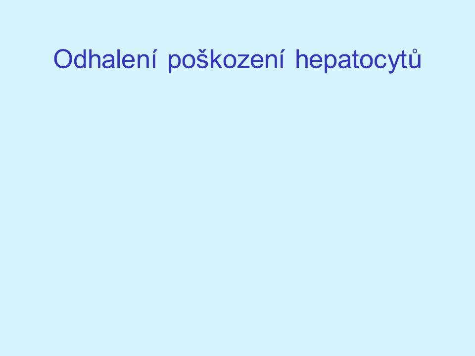 Odhalení poškození hepatocytů