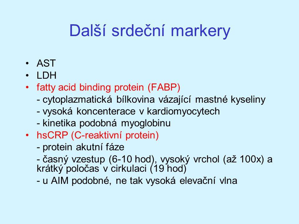Další srdeční markery AST LDH fatty acid binding protein (FABP)