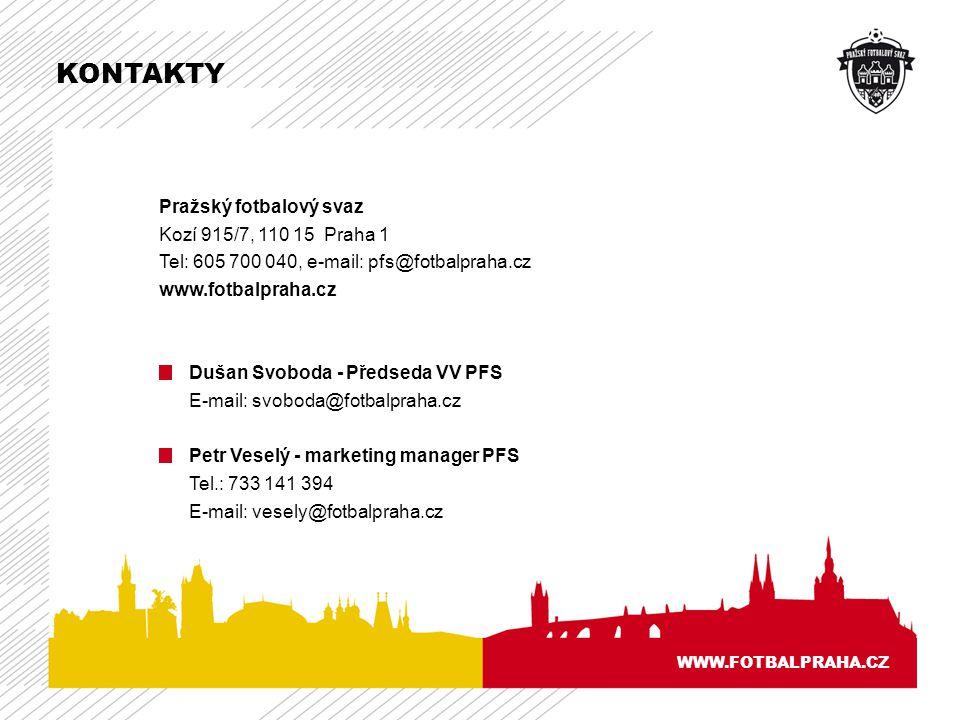 KONTAKTY Pražský fotbalový svaz Kozí 915/7, 110 15 Praha 1