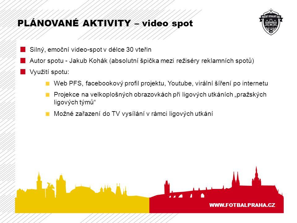 PLÁNOVANÉ AKTIVITY – video spot
