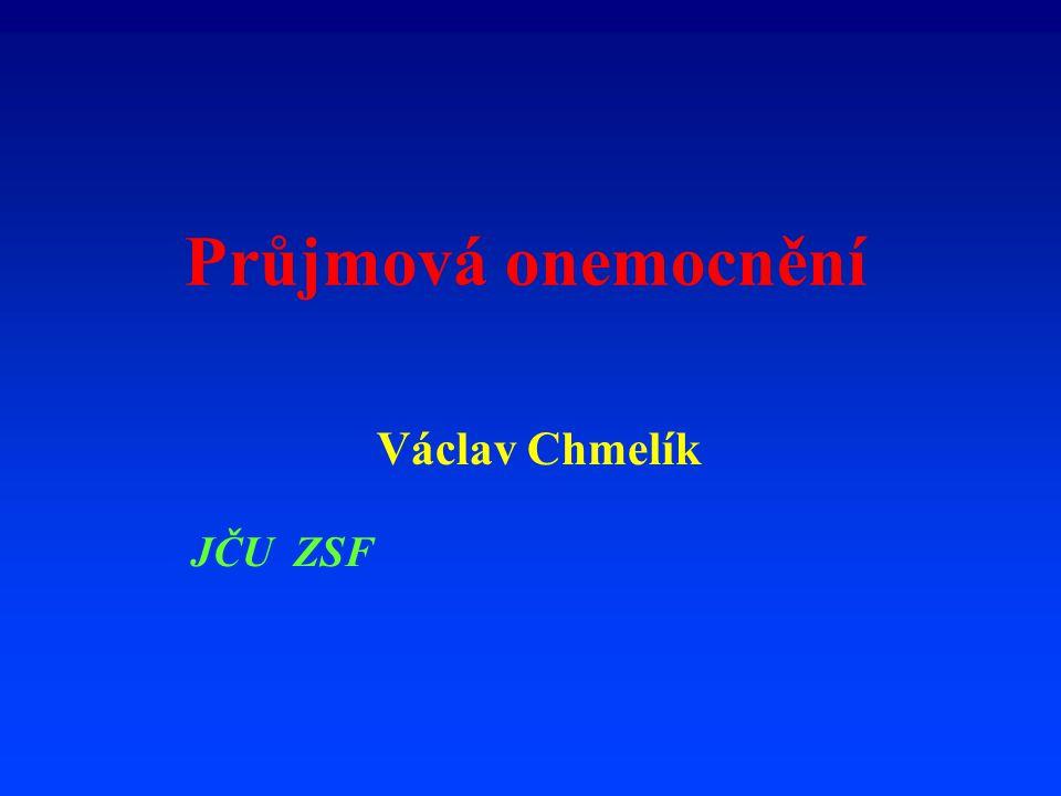 Průjmová onemocnění Václav Chmelík JČU ZSF