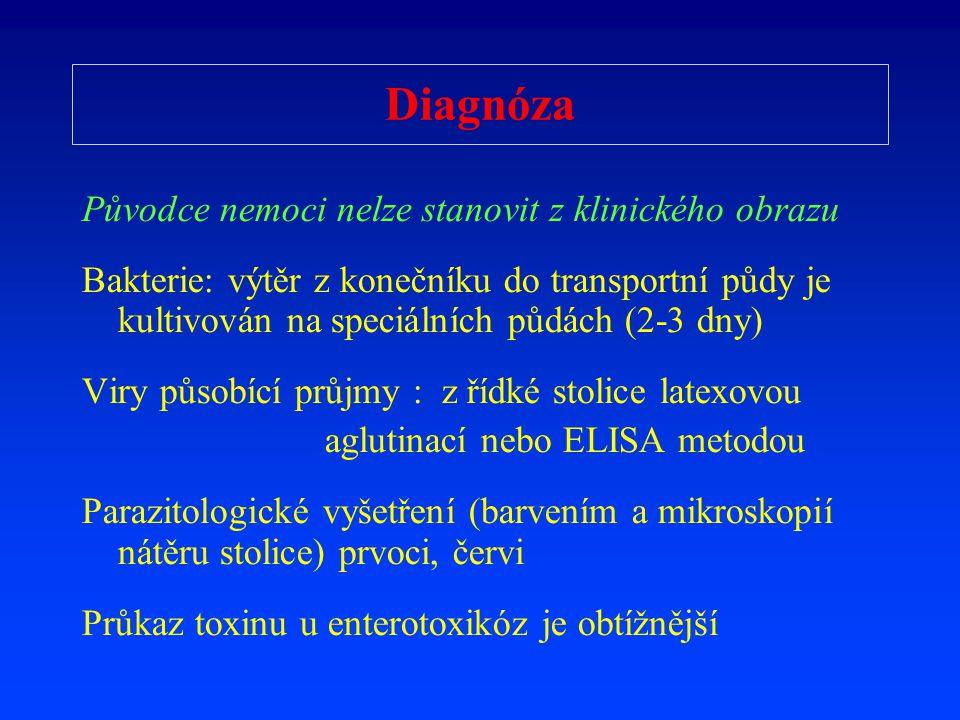 Diagnóza Původce nemoci nelze stanovit z klinického obrazu