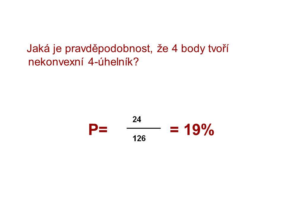 Jaká je pravděpodobnost, že 4 body tvoří nekonvexní 4-úhelník