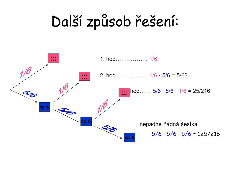 Další způsob řešení: ::: ::: ::: 1. hod…………….. 1/6