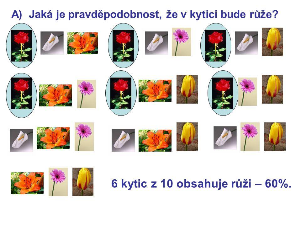 6 kytic z 10 obsahuje růži – 60%.