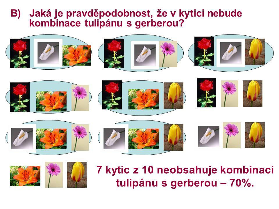 7 kytic z 10 neobsahuje kombinaci tulipánu s gerberou – 70%.