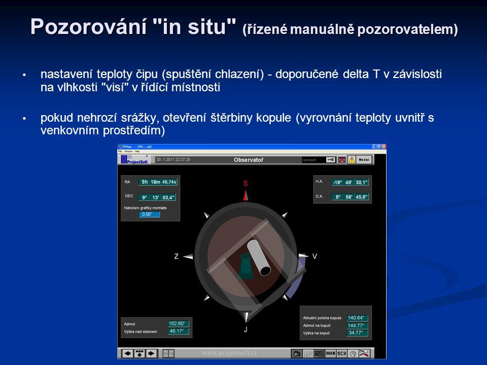 Pozorování in situ (řízené manuálně pozorovatelem)