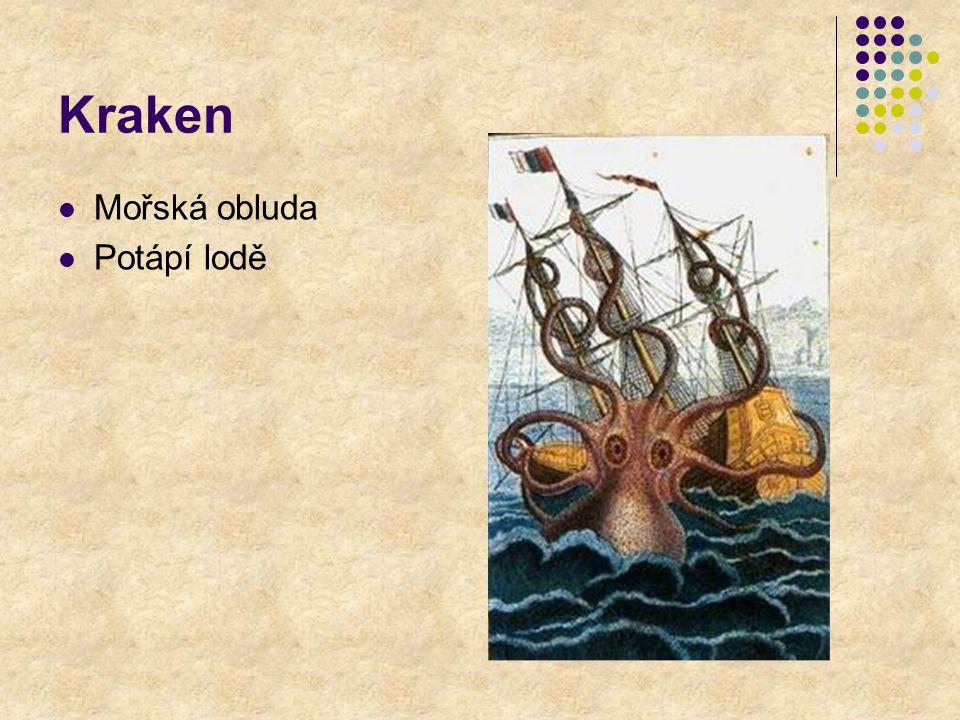 Kraken Mořská obluda Potápí lodě