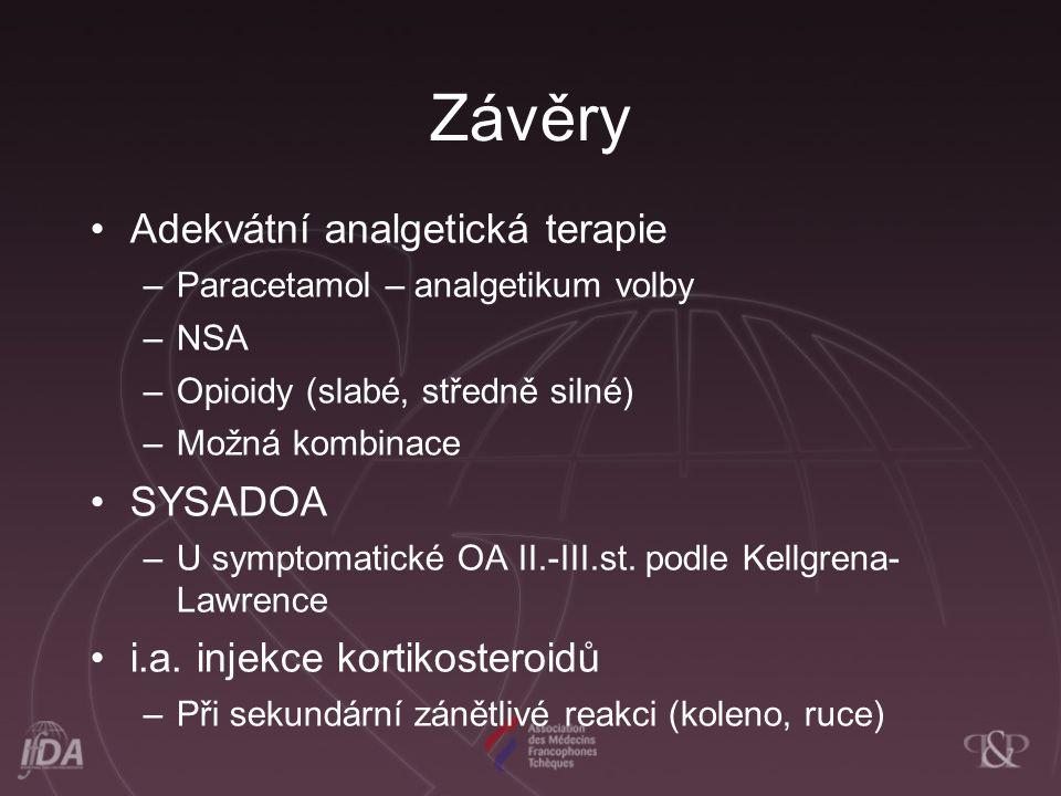 Závěry Adekvátní analgetická terapie SYSADOA