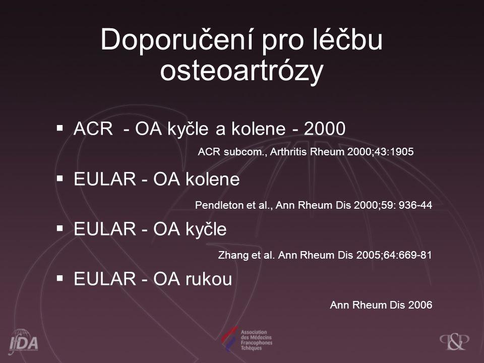 Doporučení pro léčbu osteoartrózy