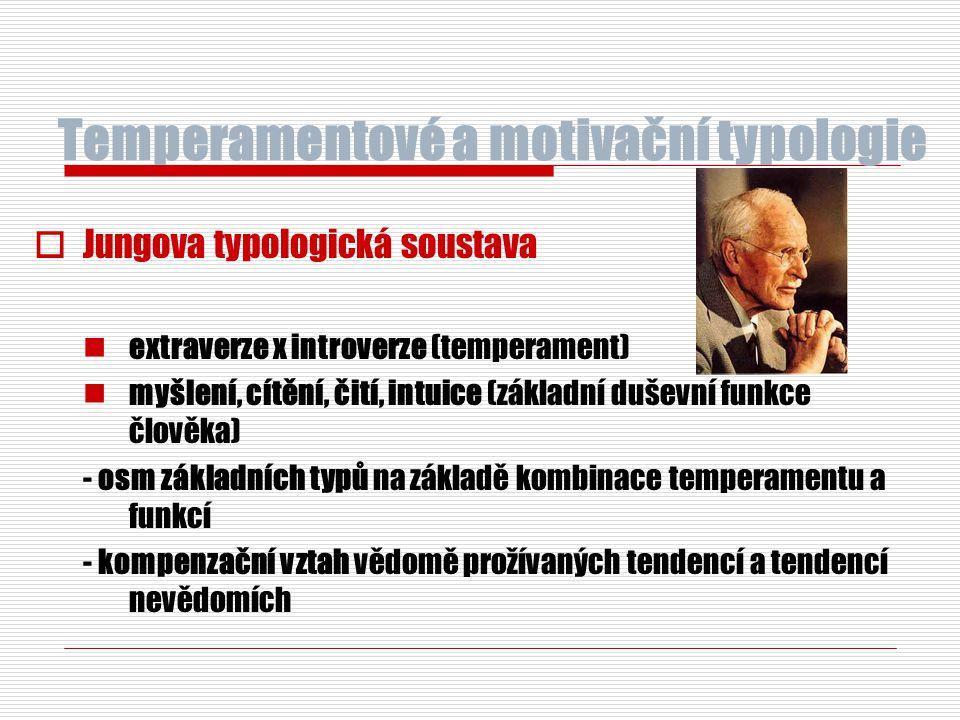 Temperamentové a motivační typologie