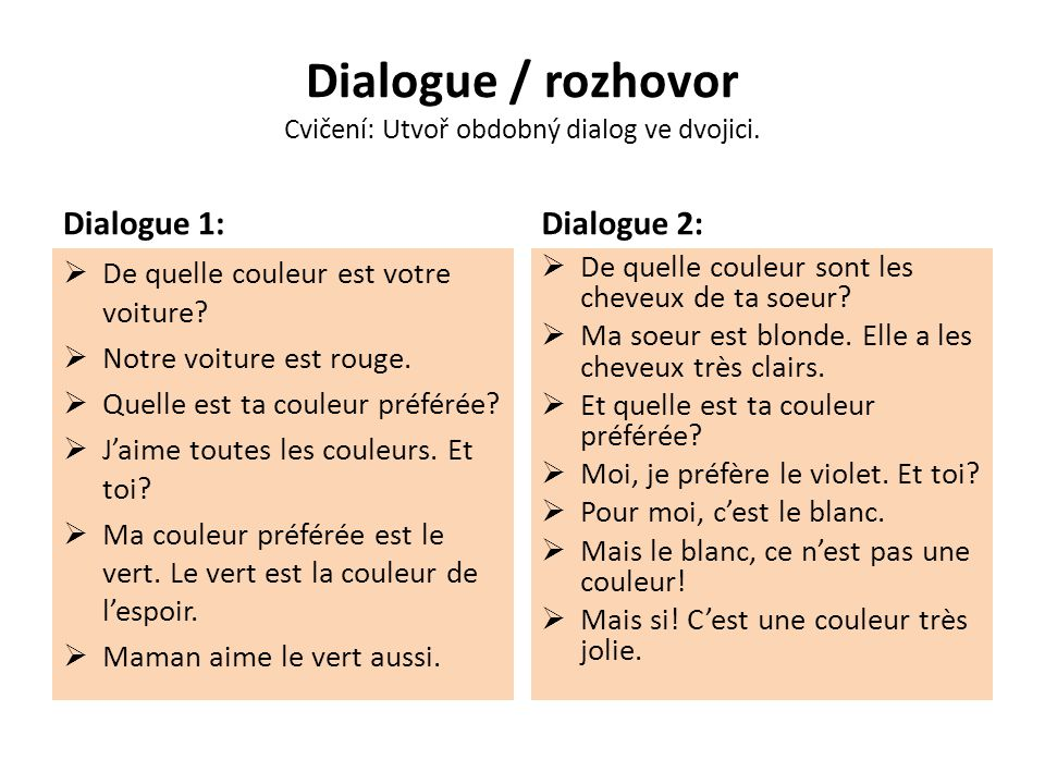 Dialogue / rozhovor Překlad.