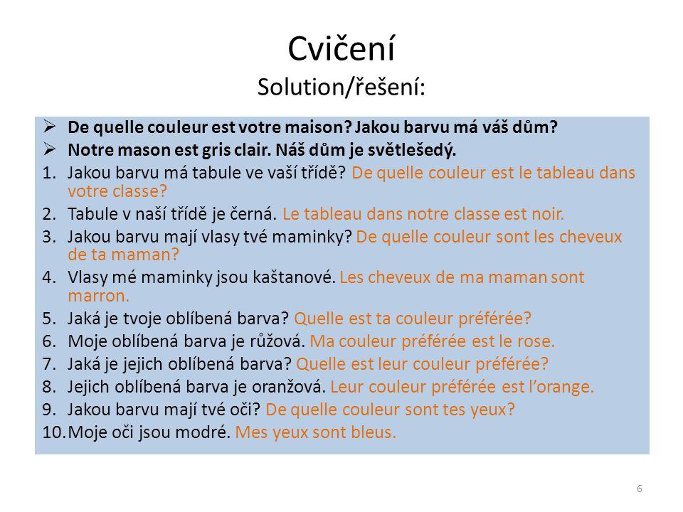 Grammaire - Slovesa 1.třídy
