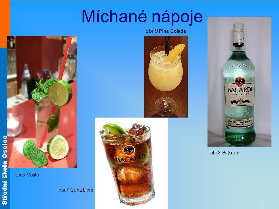 Míchané nápoje obr.9 Pina Colada obr.8 Bílý rum obr.6 Mojito