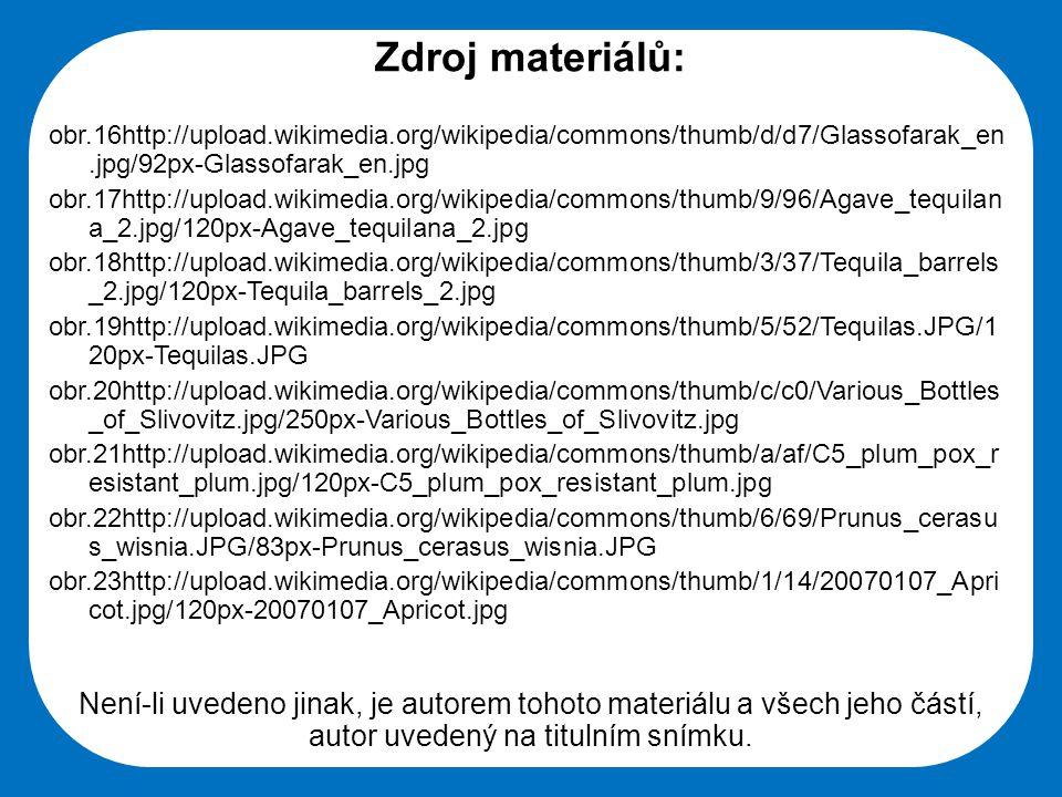 Zdroj materiálů: obr.16http://upload.wikimedia.org/wikipedia/commons/thumb/d/d7/Glassofarak_en.jpg/92px-Glassofarak_en.jpg.