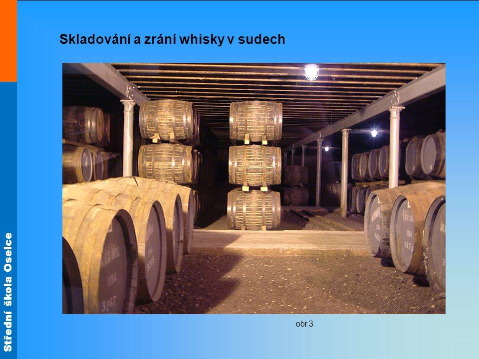 Skladování a zrání whisky v sudech