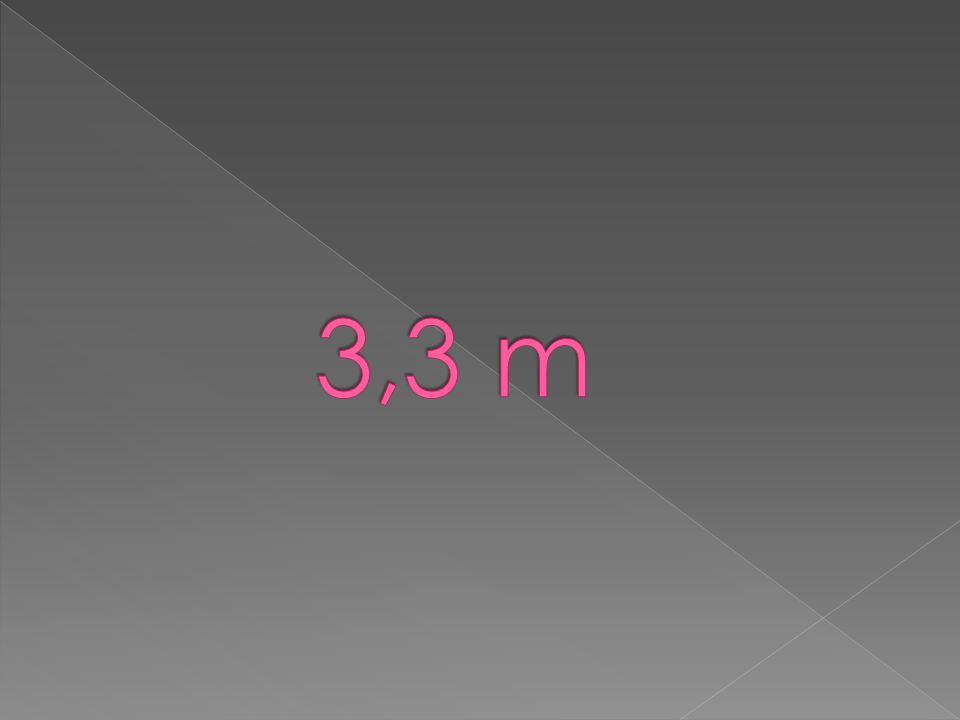 3,3 m