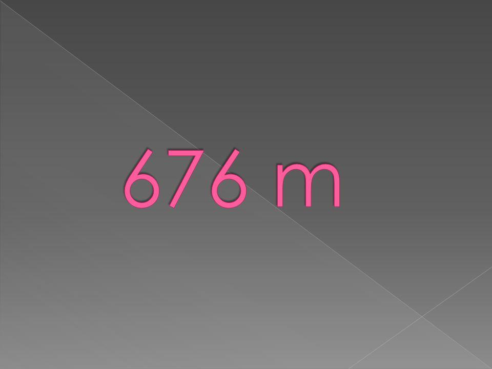 676 m