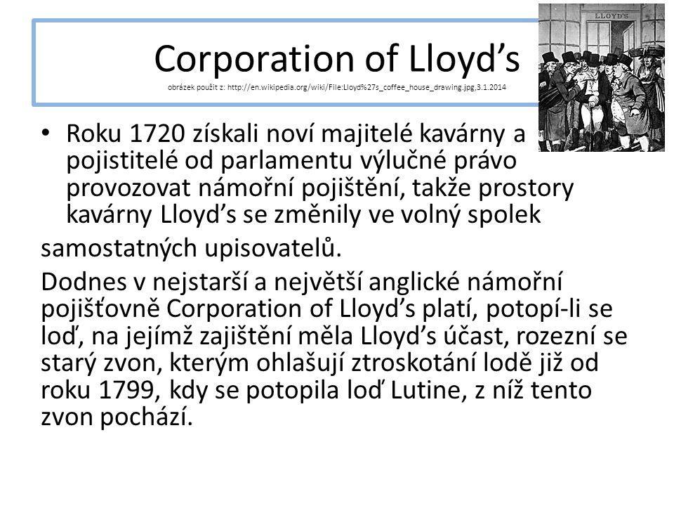 Corporation of Lloyd's obrázek použit z: http://en. wikipedia