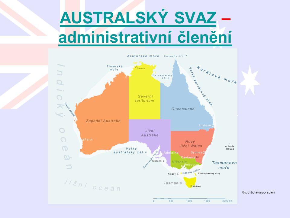 AUSTRALSKÝ SVAZ – administrativní členění