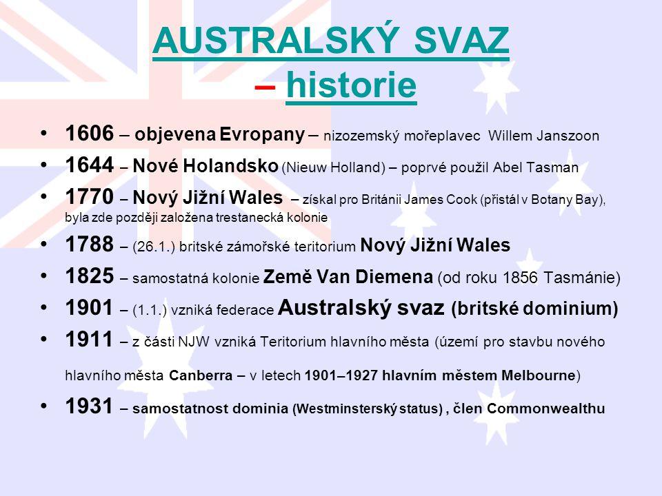AUSTRALSKÝ SVAZ – historie